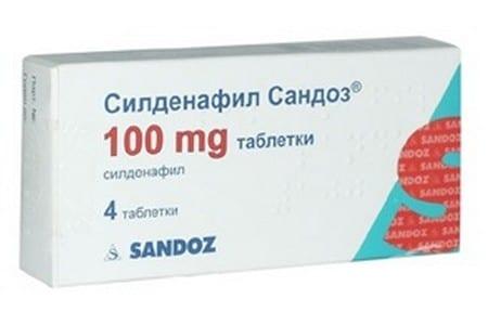 Упаковка препарата Силденафил
